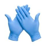 Работни ръкавици SEMPERGUARD от нитрил (сини)- без пудра