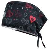 Медицинска шапка модел ADRIANA-тъмни сърца